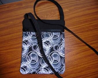 Black/White over the shoulder bag
