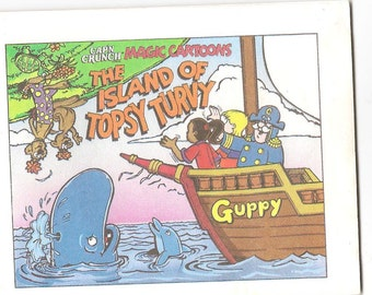 Vintage 1992 Captain Crunch Magic Cartoons - The Island of Topsy Turvy -  FREE SHIPPING