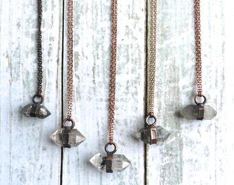 Raw quartz crystal necklace | Electroformed crystal necklace | Raw crystal necklace | Rough quartz crystal pendant | Raw crystal jewelry
