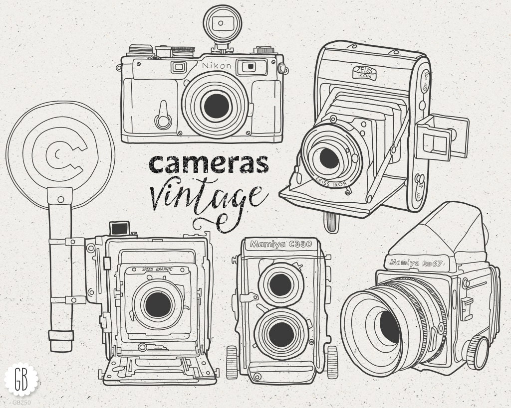 Vintage Camera Clip Art Free