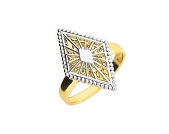 14K Two-Tone Diamond-Cut Fancy Ring, Fancy Ring, Diamond-Cut Ring, 14K Gold Ring, Gold Ring, Fancy Jewelry, Gold Jewelry, Fancy, Gold