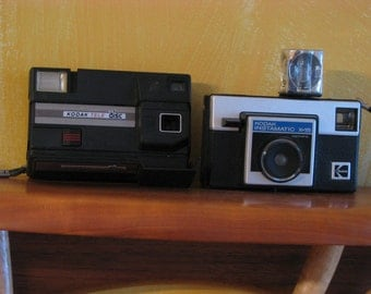 Vintage Kodak Tele Disc and Instamatic X-15 Cameras