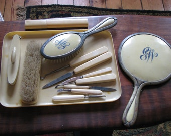 Vintage Cellulose Vanity Pieces