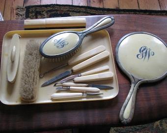 Vintage Cellulose Vanity Pieces