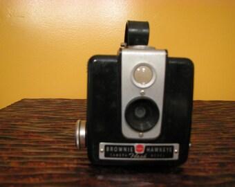 Vintage kodak Brownie Hawkeye Camera Flash Model and Box