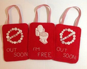 Occupied sign for bathroom, toilet occupied sign, occupied door hanger, engaged door sign, bathroom door sign, restroom