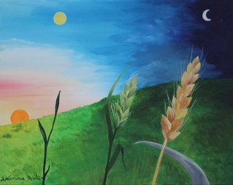 Parable Painting of the Growing Seed Bible Art