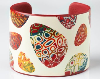 Flame Red Pebbles - Cuff