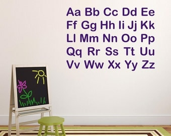 Alphabet Letters Wall Stickers, Alphabet Wall Decals, Letter Wall Art,  Educational Wall Transfers Part 74