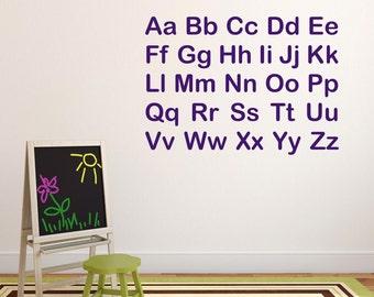 autocollant mural alphabet etsy. Black Bedroom Furniture Sets. Home Design Ideas