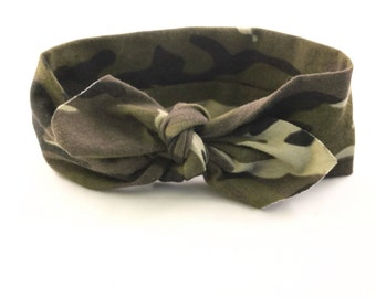 baby girl camo, camo baby, camo headband, july 4th girls headband, army headband, READY TO SHIP