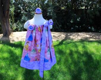 Clearance size 3/4 dress. Princess dress. Belle dress. Cinderella dress. Pillow case dress. Grow with me dress