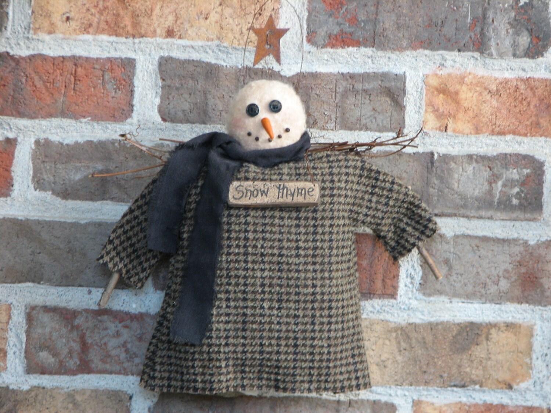 Snow Thyme Angel in Wool Coat