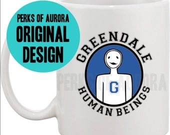 Greendale Human Beings coffee mug