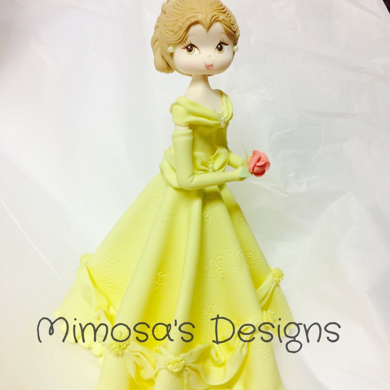 Princess Belle Cake Topper. Beauty and the by MimosasDesigns