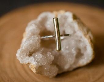 Brassy Bar Ring