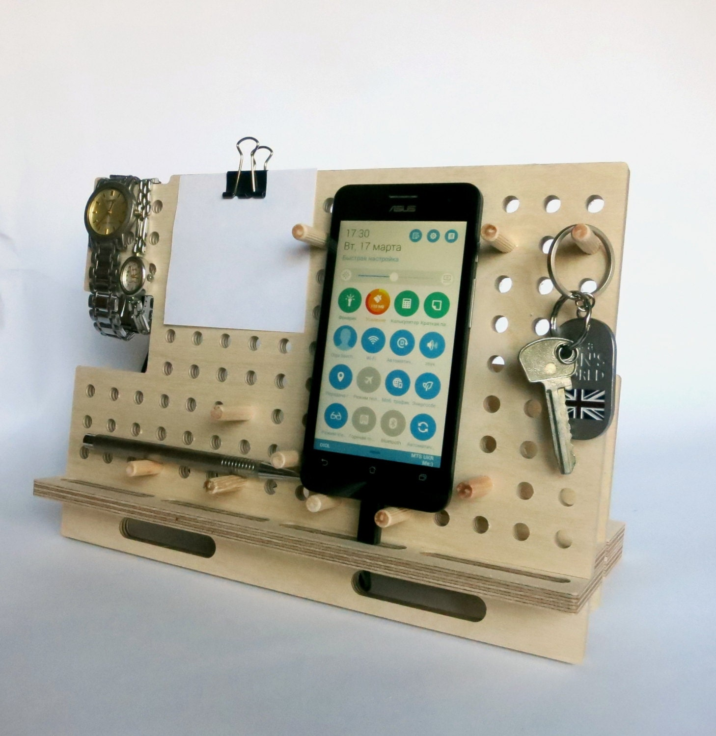 Tablet holder ipad stand kitchen tablet stand Wood by ...