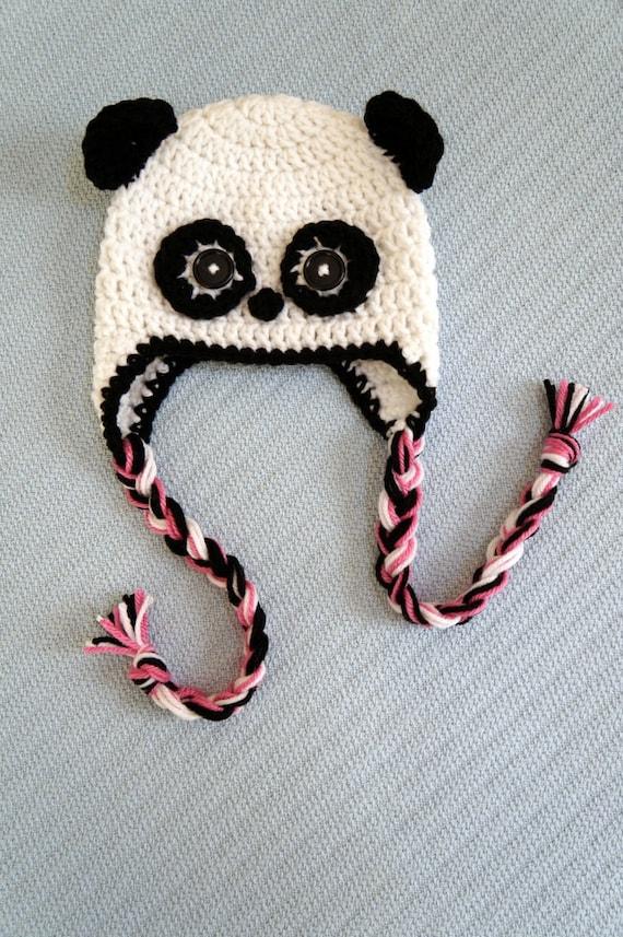 Free Crochet Baby Panda Hat Pattern : Baby Panda Hat Crochet Pattern from All4Pears on Etsy Studio