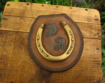 Vintage Horseshoe on Leather - Special Horseshoe
