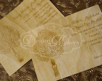 Etched Tree Invitation