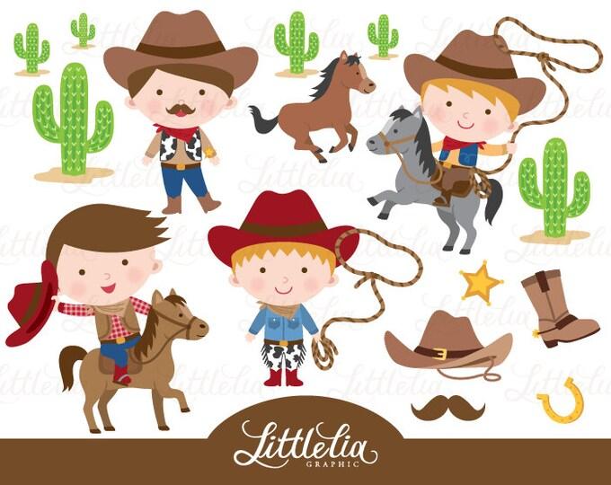 Western cowboys clipart