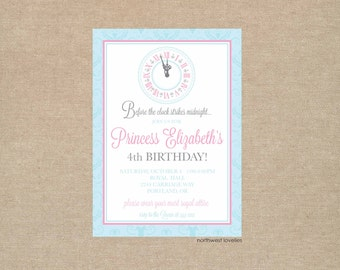 Cinderella Princess Party Invitation