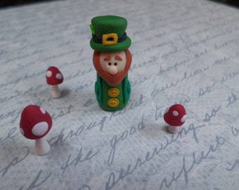 Lucky Leprechaun - Polymer Clay Miniature