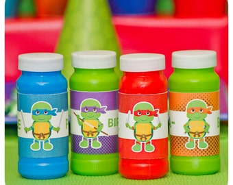 Teenage Mutant Ninja Turtle Bubble Wrappers; TMNT Party; Ninja Turtle Birthday Party: TMNT Birthday Party Favors