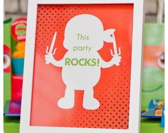 Teenage Mutant Ninja Turtle Signs; TMNT Party; Ninja Turtle Birthday Party Signs