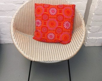 Scatter cushion in vintage 1960′s fabric