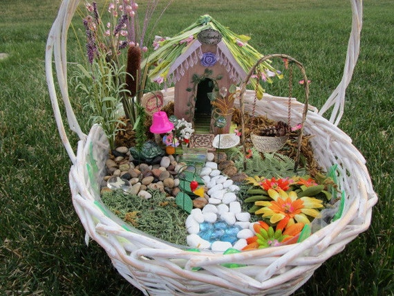 Fairy garden accessories kit swing bell seashell w fairy for Garden accessories online