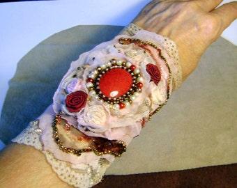 Sold on 20.11/ Gift girlfriend , Handmade bracelet romantic -gothic style , boho , mori girl/  OOAK