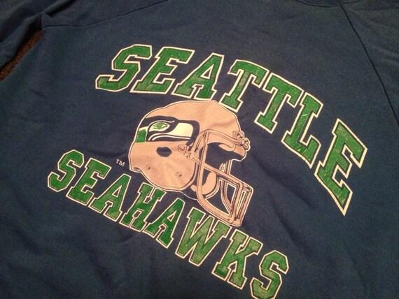 Vintage mens seattle seahawks logo crewneck jpg 570x428 Native seahawk  emblem sweatshirt ae72e448d