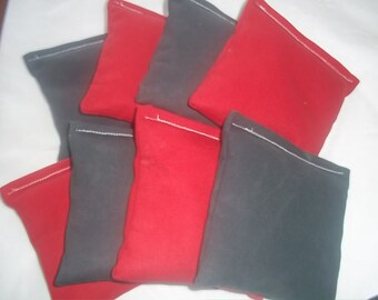 8 ACA Regulation Cornhole Bags - 4 Red and 4 Black