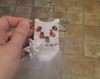 Wedding Dress Personalized Ornament Christmas or Wedding/Bridal Shower Gift