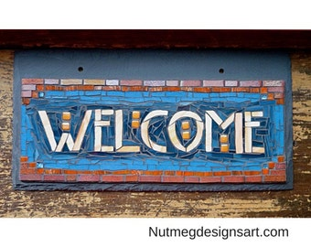 MADE TO ORDER Craftsman Style Welcome Sign  (or other 7 letter words)