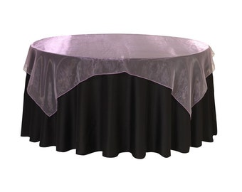 72 inch Square Organza Table Overlay Lavender | Wedding Table Overlays