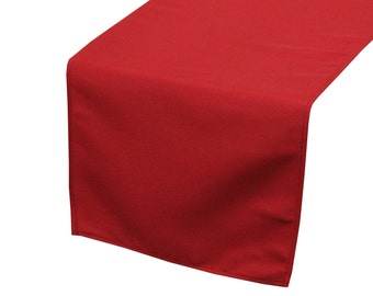 Dark Red Polyester Table Runner | Wedding Table Runners