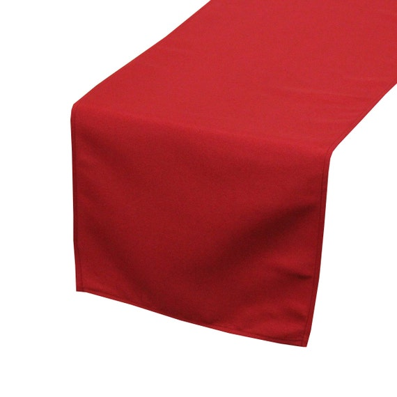 yourchaircovers dark red polyester table runner wedding. Black Bedroom Furniture Sets. Home Design Ideas