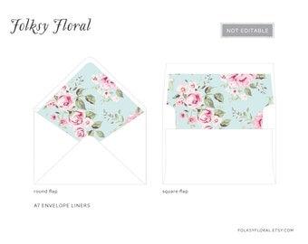 Vintage Rose A7 Envelope Liners