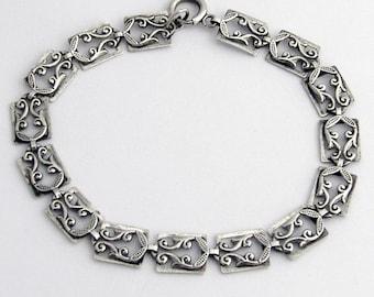Orate Bracelet Open Work Sterling Silver