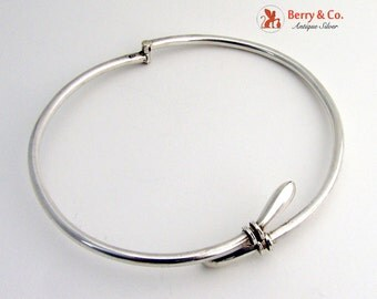 Hinged Choker Collar Necklace Sterling Silver
