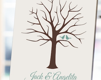 Wedding Tree Guest Book - 8x10 - Fingerprint Tree, Wedding Guest Book, Tree Guest Book, Wedding Fingerprint Tree, Wedding Thumbprint Tree