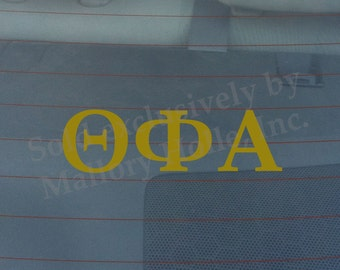 """Officially Licensed Theta Phi Alpha 8"""" x 3"""" Bumper Sticker / Window Decal"""
