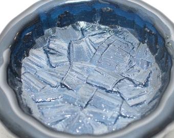 Vintage Cobalt Blue Ice Shards hape Art Glass Bowl