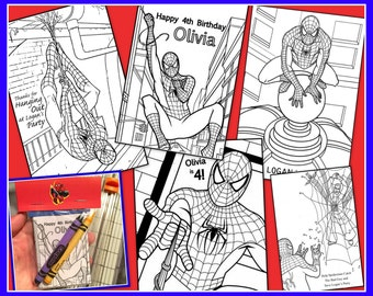 Spiderman Personalized Coloring Book - Emailed As A PDF