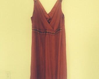 Vintage Silk Plus Size 22 beaded gorgeous