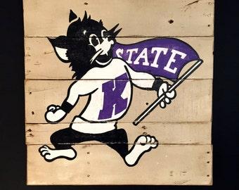 Kansas State University Wildcats / Willie the Wildcat Sign