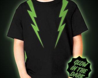 Children's Glow in the dark Lightning Strikes t-shirt