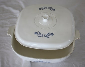 Vintage Corning Ware Covered Casserole Pyroceram